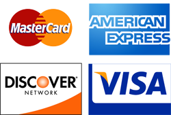 Master Card, American Express, Discover Network & VISA Payment Options image
